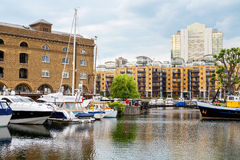 St Katharine's Dock. London, England Stock Images