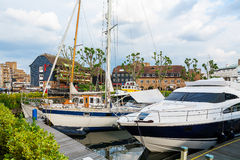 St Katharine's Dock. London, England Stock Photo