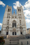 St. Kathedraal Michael en Gudula. Brussel. België Royalty-vrije Stock Afbeeldingen
