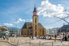 St.Katherine church in the streets of Frankfurt am Main Stock Photo