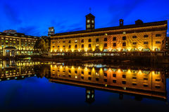 St Katherine Dock at Night Stock Image