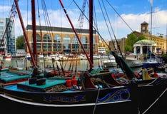 St Katherines Dock London stock photo