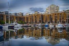 St. Katherine's docks HDR Stock Photo