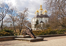 St. Katheryna church and cannon Royalty Free Stock Photos