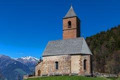 St. Kathrein, Hafling, South Tyrol. St. Kathrein chapel near Hafling, South Tyrol, Italy Stock Photo