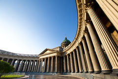 st kazan petersburg собора Стоковая Фотография RF