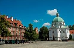 St Kazimierz church. In Warsaw, Poland Stock Photos