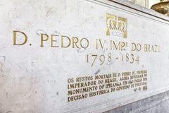 1st kejsare för gravvalvPedro I dropp av Brasilien Fotografering för Bildbyråer