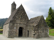 St. Kevin's Chapel at Glendalough. In the Wicklow Mountains in Ireland royalty free stock photo