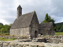 St. Kevin's Chapel at Glendalough. In the Wicklow Mountains in Ireland royalty free stock image
