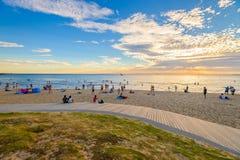St Kilda海滩,维多利亚,澳大利亚 库存照片