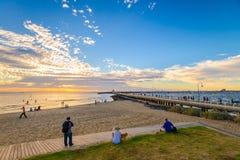 St Kilda海滩,维多利亚,澳大利亚 免版税库存照片