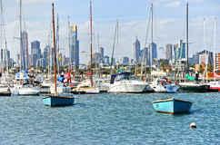 St Kilda Beach in Melbourne Royalty Free Stock Photo