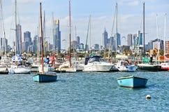 St Kilda Beach in Melbourne Royalty Free Stock Photo