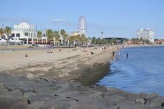 St Kilda Beach Melbourne Victoria Australia stock photos