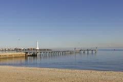 St Kilda beach. A sunny day on an empty St Kilda beach Royalty Free Stock Images