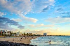 St Kilda Beach, Victoria, Australie Images stock