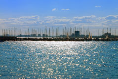 St. Kilda Harbour, Melbourne, Australia royalty free stock photos