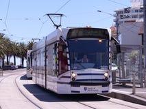 St Kilda Melbourne Australia tram. White St Kilda, City of Melboune, Australia Tram Stock Photo