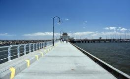 St Kilda molo w Melbourne zdjęcia royalty free