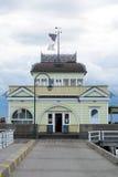 St Kilda pawilon i molo Zdjęcia Royalty Free
