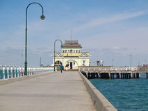 St Kilda Pier. On a sunny day Stock Images