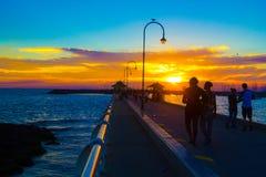 St Kilda pier. Evening at St Kilda pier Royalty Free Stock Photos