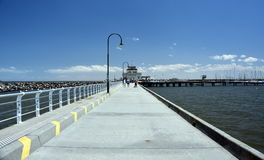 St Kilda pier in Melbourne. Royalty Free Stock Photos