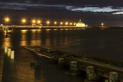 St Kilda pier. At sunset - Melbourne, Australia Royalty Free Stock Photo
