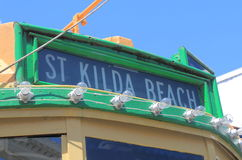 St Kilda plaża tramwajowy Melbourne Australia Obraz Royalty Free
