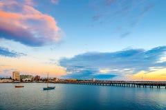 St Kilda plaży jetty, Wiktoria, Australia Obraz Royalty Free