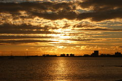 St Kilda Sunset Stock Photography
