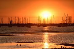 St Kilda Sunset. Sunset view at St Kilda Pier Royalty Free Stock Photos