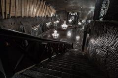 St Kinga' s教堂- 101米地下在维利奇卡盐溶M 免版税图库摄影