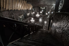 St. Kinga's Chapel  - 101 meters underground in Wieliczka Salt M Royalty Free Stock Photography