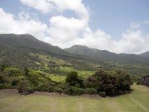 St. Kitts, φρούριο Hill θειαφιού Στοκ φωτογραφία με δικαίωμα ελεύθερης χρήσης