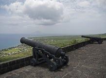 St. Kitts, φρούριο Hill θειαφιού Στοκ Φωτογραφίες