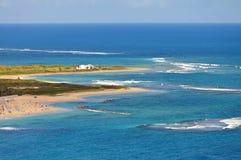 Παραλία στο θέρετρο σε St. Kitts Στοκ Εικόνα