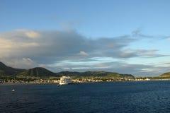 St Kitts coasline in de Caraïben Stock Afbeeldingen