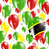 St. Kitts and Nevis Independence Day Seamless. Stock Photos