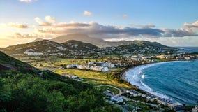 st kitts och geografi för Nevis naturhav arkivfoton