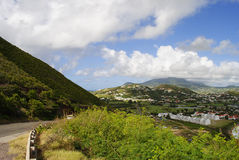 St Kitts south coast. In the West Indies Stock Image