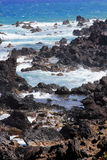 St. Kitts Volcanic North Shore Royalty Free Stock Photography