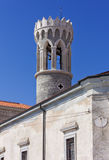 St. Klement Church Bell Tower in Piran Royalty Free Stock Images