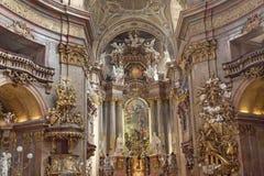 St Kościół Peters, Wiedeń obrazy stock
