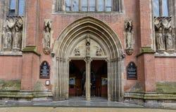 St.-Konfetti-Kathedralen-Eingang Stockfoto