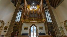 St.-Konfetti-Kathedralen-Innenorgan Lizenzfreies Stockfoto