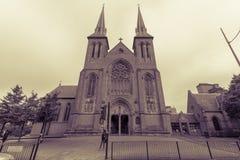 St.-Konfetti-Kathedralen-Nordfassade Stockfotografie