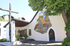 St Korbinian im Thal教会, Assling,奥地利 库存图片