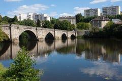 St. krijgsbrug in Limoges Stock Fotografie